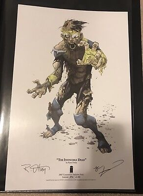 """""""The Invincible Dead"""" Ryan Ottley Art Print 11x17 Convention Exclusive (Walking)"""