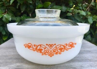 Vintage Crown Agee Pyrex Tubby Round Casserole Limited Release Ivy Garland