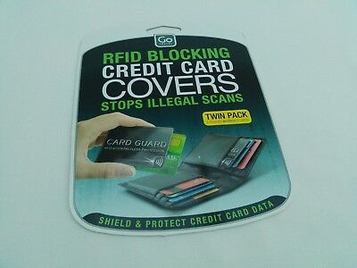 Go Travel RFID Blocking Credit Card Covers X 2 Twin Pack Brand New