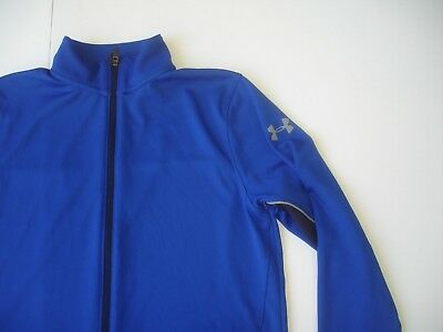 Under Armour Mesh Track Style Jacket - Blue Black Gray - Mens M Loose