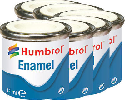 HUMBROL14ml Enamel tin Paint Gloss metallic matt metal model hornby train airfix