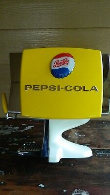 Pepsi-Cola Dispenser From Japan Never Used! Yellow Plastic Pepsi Soda Orig. Box