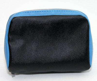 Cole Haan for American Airlines black and blue makeup toiletry cosmetic pouch