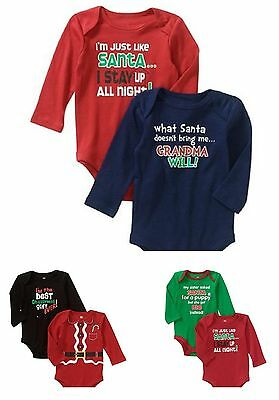 New Christmas bodysuit Long sleeve Top Boys Girls Holiday Baby Sold Separtely 1