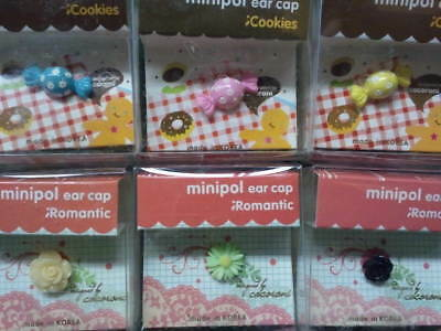 Dust Plug Ear Cap Phone Charm 6 Pc Assorted Flowers & Candy 3.5mm + FREE GIFT?b