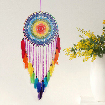 Indian Handmade Dream Catcher Feather Wall Car Hanging Decor Ornaments Xmas Gift