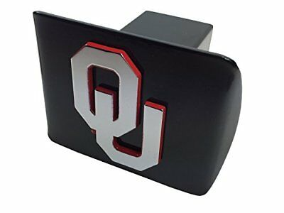 University of Oklahoma METAL emblem chrome with crimson trim on black METAL