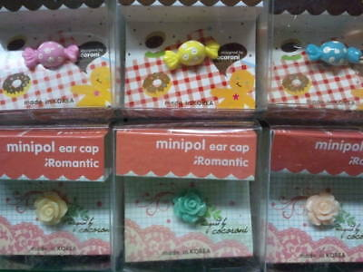 Dust Plug Ear Cap Phone Charm 6 Pc Assorted Flowers & Candy 3.5mm + FREE GIFT?e