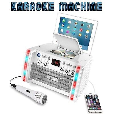Portable Karaoke Machine Tablet Cradle CD Player Musical Family Fun Sound System
