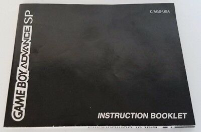 Game Boy Advance SP INSTRUCTIONS BOOKLET MANUAL ONLY (Nintendo Game Boy Advance)