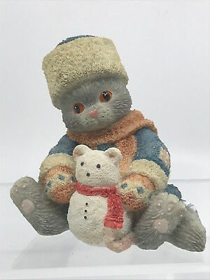 Enesco Calico Kittens BLUE WITHOUT YOU 1994 Russian Snow Mouse 129615 BOXED