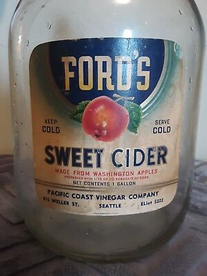 Fords Sweet Cider made from Washington Apples Pacific Coast Vinegar Comp Seattle