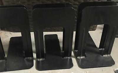 """Bookends Black Metal 9"""" High - Lot of 2 Bookends"""