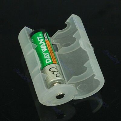 Hot Sell 1pcs AA to D Size Battery Adaptor Holder Case Converter