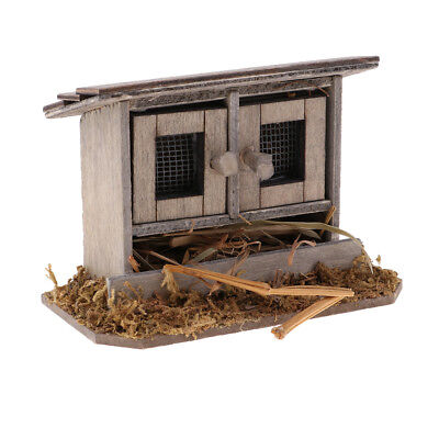 12th Chicken Coop Nest Hen House Fairy Garden Miniatures Dolls House Decor