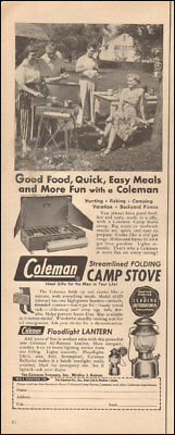1950's Vintage ad for Coleman Camp stove`camping gear lantern retro  (041618)