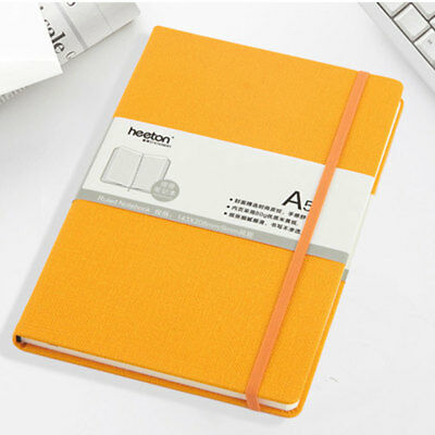 Spot Business Faux Leather Strap Elastic Band Creative Student Notepad