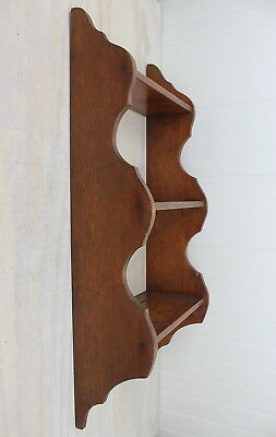 Antique Trutype Furniture Victorian Mahogony Solid Wood Wall Shelf