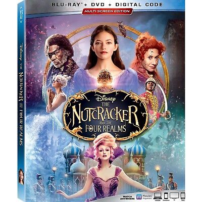 THE NUTCRACKER AND THE FOUR REALMS Blu-ray/DVD/Digital (CASE,COVER,CODE,ALLDISC)