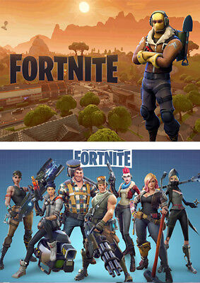 2PCS  Fortnite Game A3 A4 Wallpaper Photograph Poster Prints