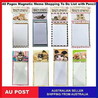 Fridge Magnetic Memo Pad Shopping Board Things To Do List Pencil 40 Pages