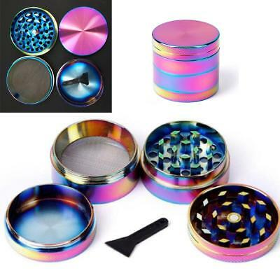 4-Layers Metal Zinc Alloy Rainbow Tobacco Herb Grinder Hand Muller Smoke Crusher