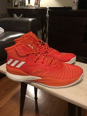 24b92394cb12 Brand New Adidas Derrick D Rose 8 VIII Boost Orange Men s Size 17