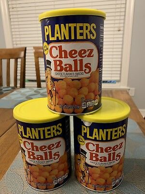 Planters Cheez Balls Lot Of 3 Cans 2.75oz Cheese Balls New Unopened July 2019