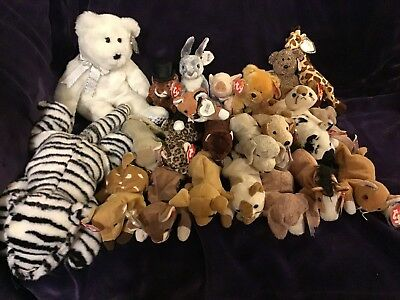 Ty Beanie Babies Lot - Most with Tags