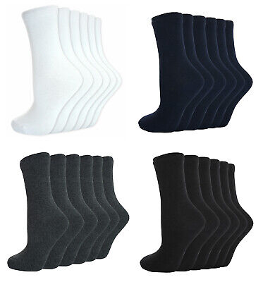 Boys Girls Plain Ankle Every School Socks