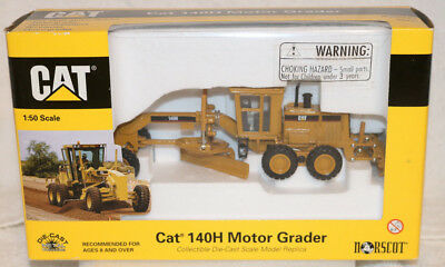 NORSCOT CATERPILLAR CAT 140H Motor Grader 1:50 Scale DieCast Toy NIB