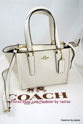 65eaae01c3ac NWT Coach F11925 Crossbody Carryall 21 Handbag Bag Crossgrain Leather Chalk   295