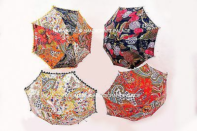 28676c1b892ab 5 PC Wholesale Lot Indian Kantha Outdoor Garden Embroidered Umbrella  Bohemian
