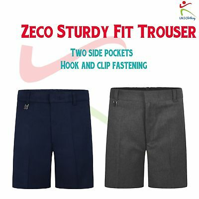 Zeco New School Uniform Generous Sturdy Fit Boys Schoolwear Shorts 4/5 to 15/16