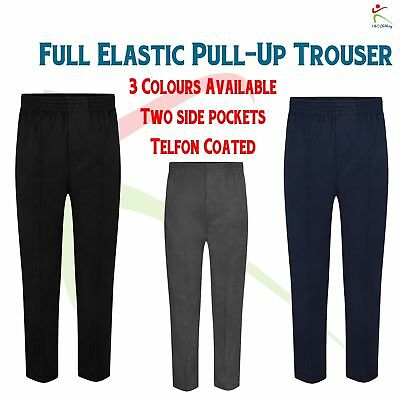 Zeco New Full Elastic Pull Up Trousers Boys Waist Pull School wear Uniform Pants