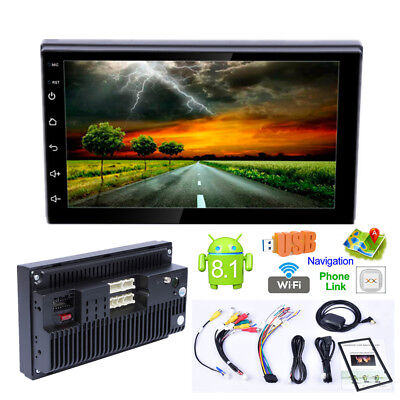 "Android 8.1 7"" 2DIN Quad Core Touch Auto GPS Bluetooth Stereo Wifi Radio Player"