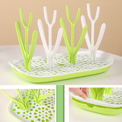 Baby Nursing Bottle Drying Rack Drain Tray Bottle pacifier Organizer Drainer