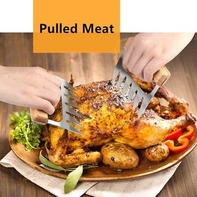 BBQ GO Grill Stainless Steel Meat Claws Pulled Pork Shredder Fork Mix Salad Oven