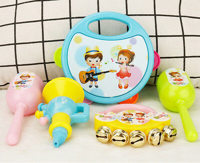 2018 New 5Pcs/Set Baby Boy Girl Drum Musical Instruments Drum Set Children Toys