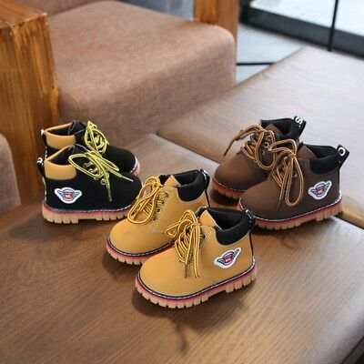 Winter Children Kids Martin' Sneaker Boots Shoes Toddler Boys Girls Casual Shoes