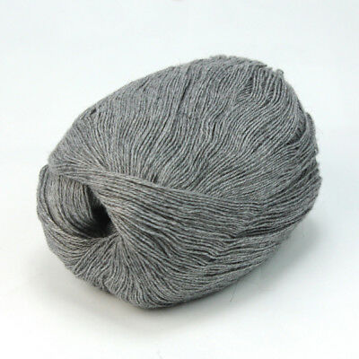 New 50g Worsted Soft Smooth Wool Cashmere Fiber Hand Knitting Woolen Yarn Gray