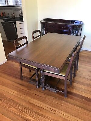 Antique 6 Seater Oak Dining Table