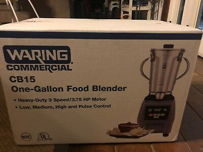 WARING COMMERCIAL CB15 Food Blender, Electronic Membrane Panel FULL WARRANTY!!!