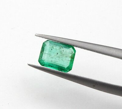 0.83 CT Natural Emerald Loose Octagon Cut Rich Green Color 6 * 5 mm Gemstone A+
