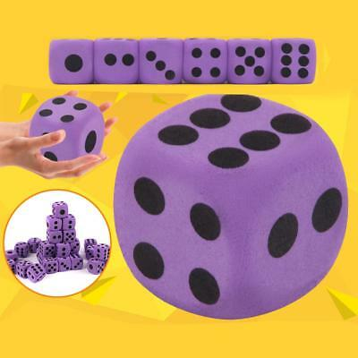 5pcs Giant Purple Foam Dice-3.8CM Outdoor Game Dice Children Toy Soft Maths Dice