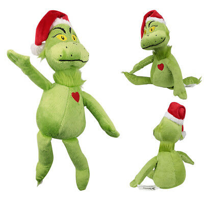"""15""""/39cm Dr Seuss How The Grinch Stole Christmas with Santa Hat Plush Toys Doll"""
