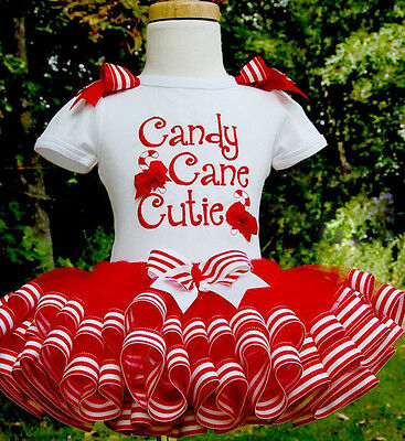 UK Stock Kids Baby Girls Christmas Clothes Candy Party Tutu Skirt Dress Outfits