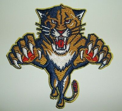 """Florida Panthers Embroidered Patch~3 5/8"""" x 3 5/8""""~NHL~Iron Sew On~Ships FREE"""