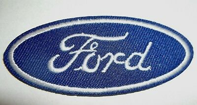"Ford Motors Patch~Car Truck Auto~2 13/16"" x 1 1/8""~Embroidered~Iron Sew On"