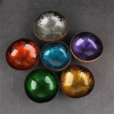 Natural Coconut Shell Candy Food Container Keys Storage Bowl Home Decor Cheerful